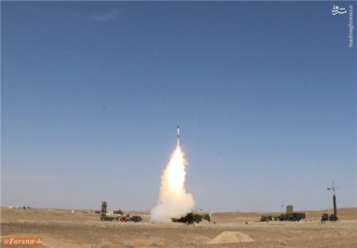 تصاویر/ اولین شلیک سامانه موشکی S300 در ایران