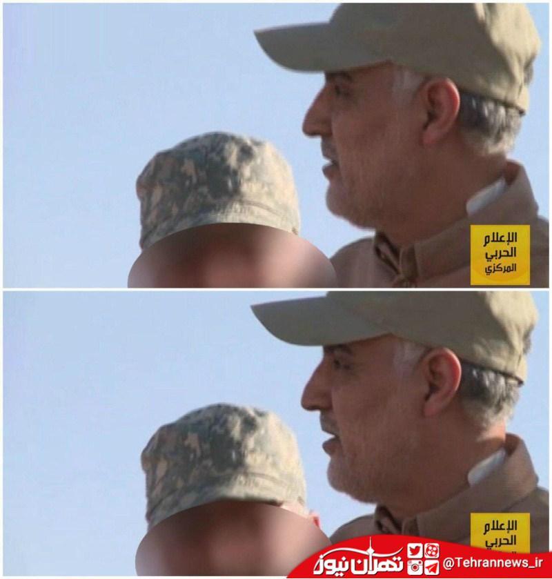 عکس جدید سردار سلیمانی در مرز سوریه با عراق