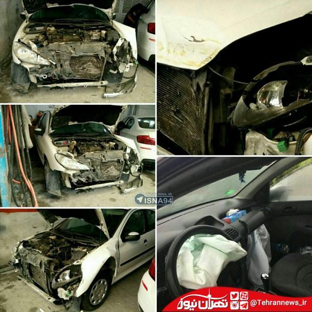 عکس/ خودروی نماینده دماوند پس از تصادف شدید