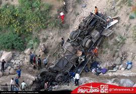 فیلم سقوط مرگبار اتوبوس به دره جاجرود