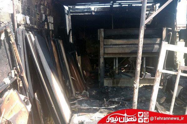 آتش سوزی کارگاه چوب در شهرقدس اطفاء شد