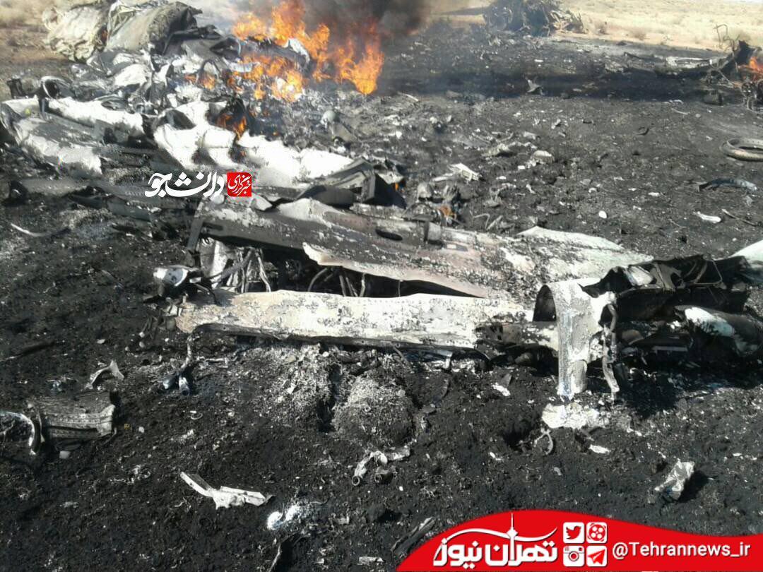 سانحه سقوط  هواپیمای جنگنده سوخو در استان فارس