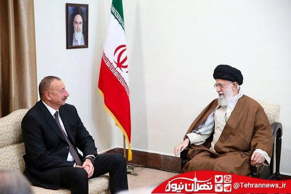 رئیسجمهور آذربایجان با رهبر انقلاب اسلامی دیدار کرد