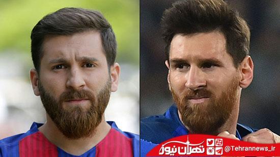 از بدل ایرانی لیونل مسی تا احسان علیخانی! + عکس