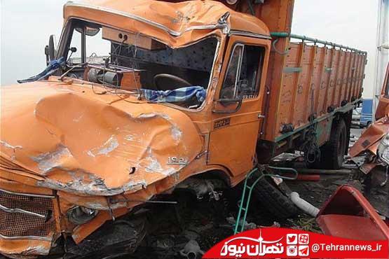 تصادف کامیون در جاده هزار