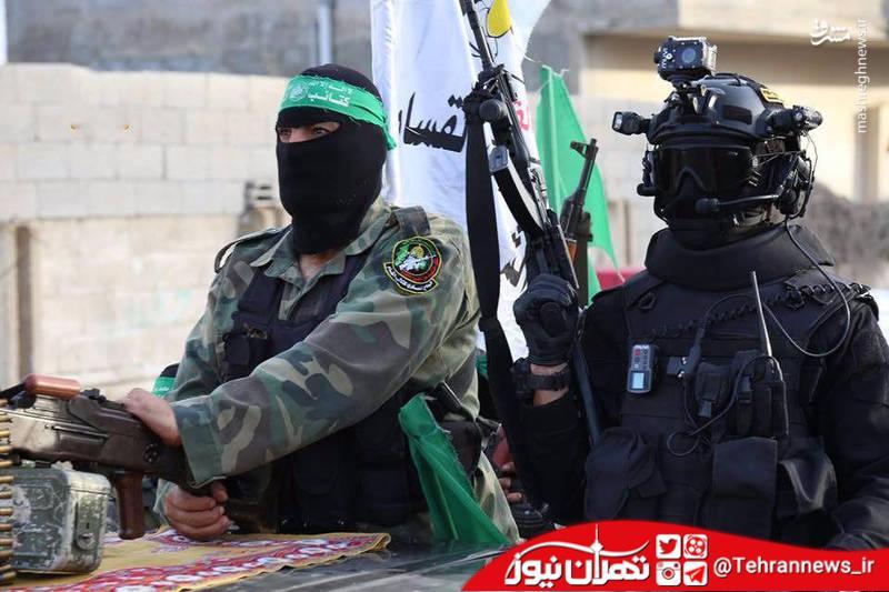 تصاویر/ رژه نظامیان جنبش حماس فلسطین