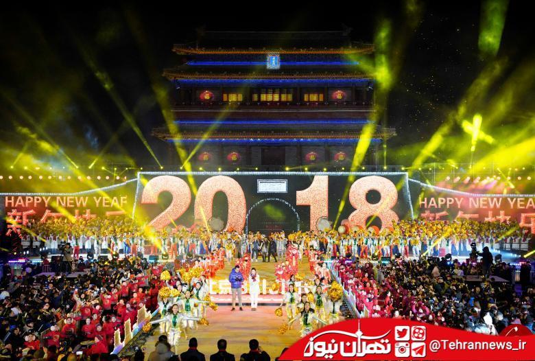 تصاویر/ آغاز سال ۲۰۱۸ در سراسر جهان