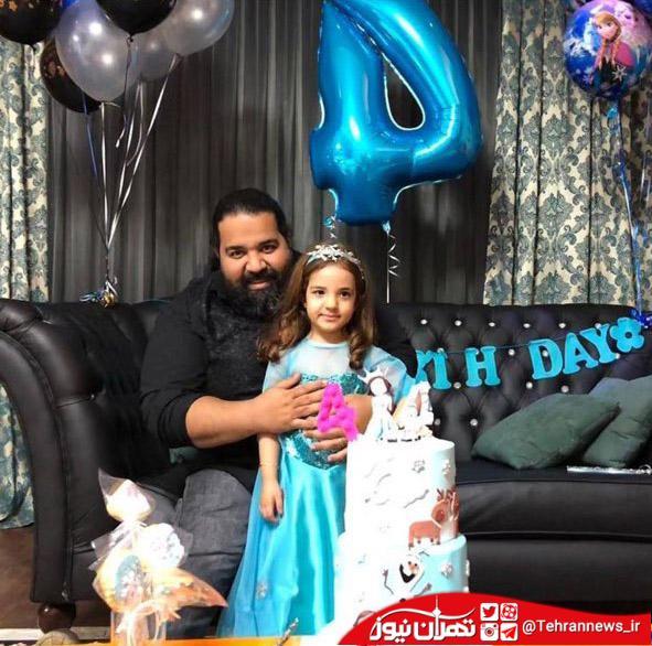 """تولد۴ سالگی دختر """"رضا صادقی """""""