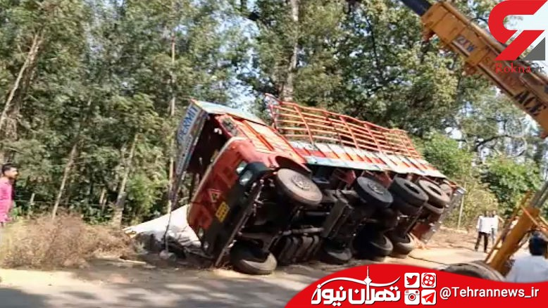 مرگ دلخراش راننده کامیون