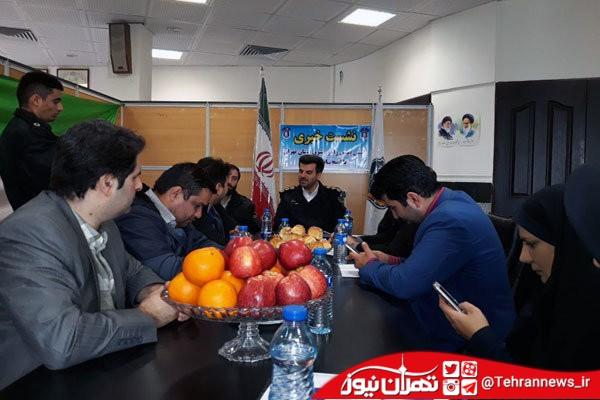 نقش پلیس افتخاری در طرح نوروزی شرق استان تهران