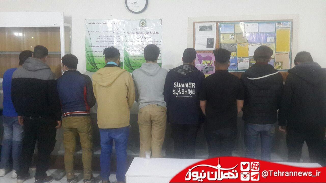 ۲۷ اخلالگر نظم عمومی در رباط کریم دستگیر شدند