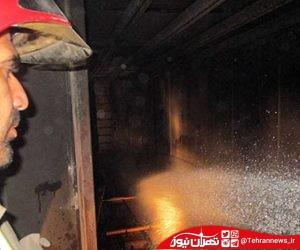 آتش سوزی کارگاه چوب در شهریار + عکس