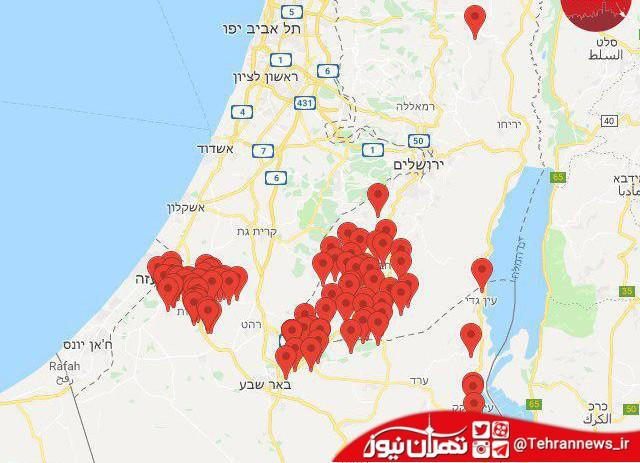 حملات غافلگیرانه مقاومت به اسرائیل + نقشه و فیلم