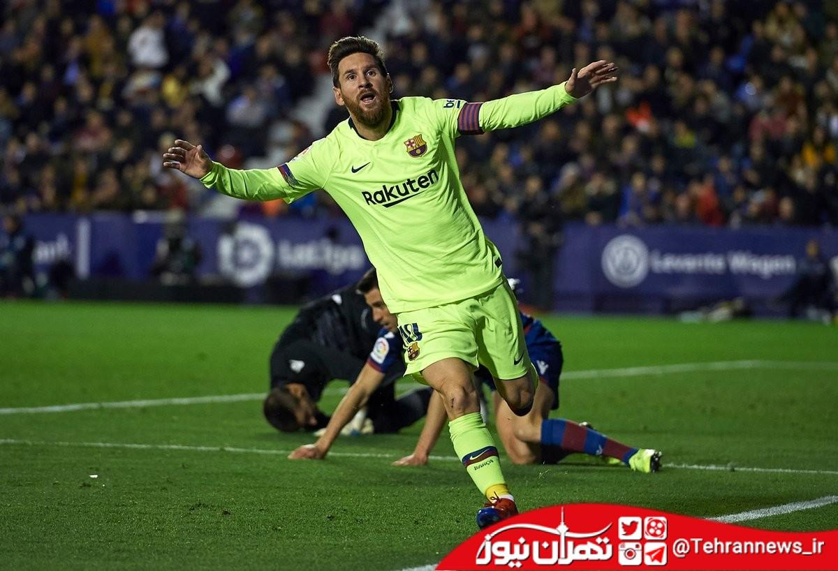 بازگشت به صدر با درخشش مسی / لوانته 0 - 5 بارسلونا