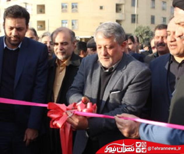 بلوار آیت الله هاشمی رفسنجانی به دست فرزندش افتتاح شد + تصاویر