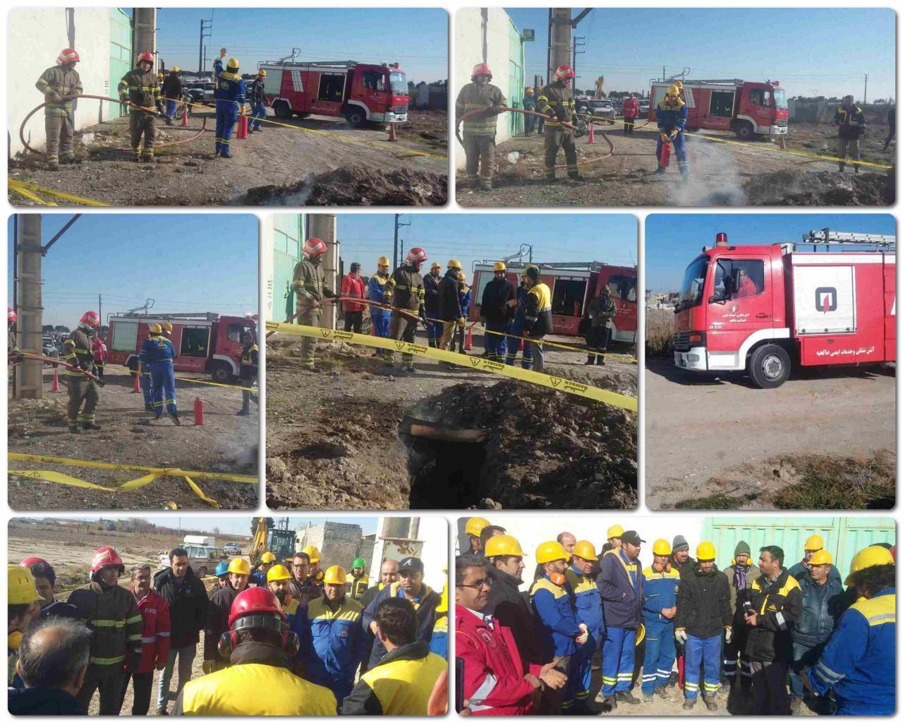 آتشنشانان شهرصالحیه برای سنجش آمادگی مورد امتحان قرار گرفتند