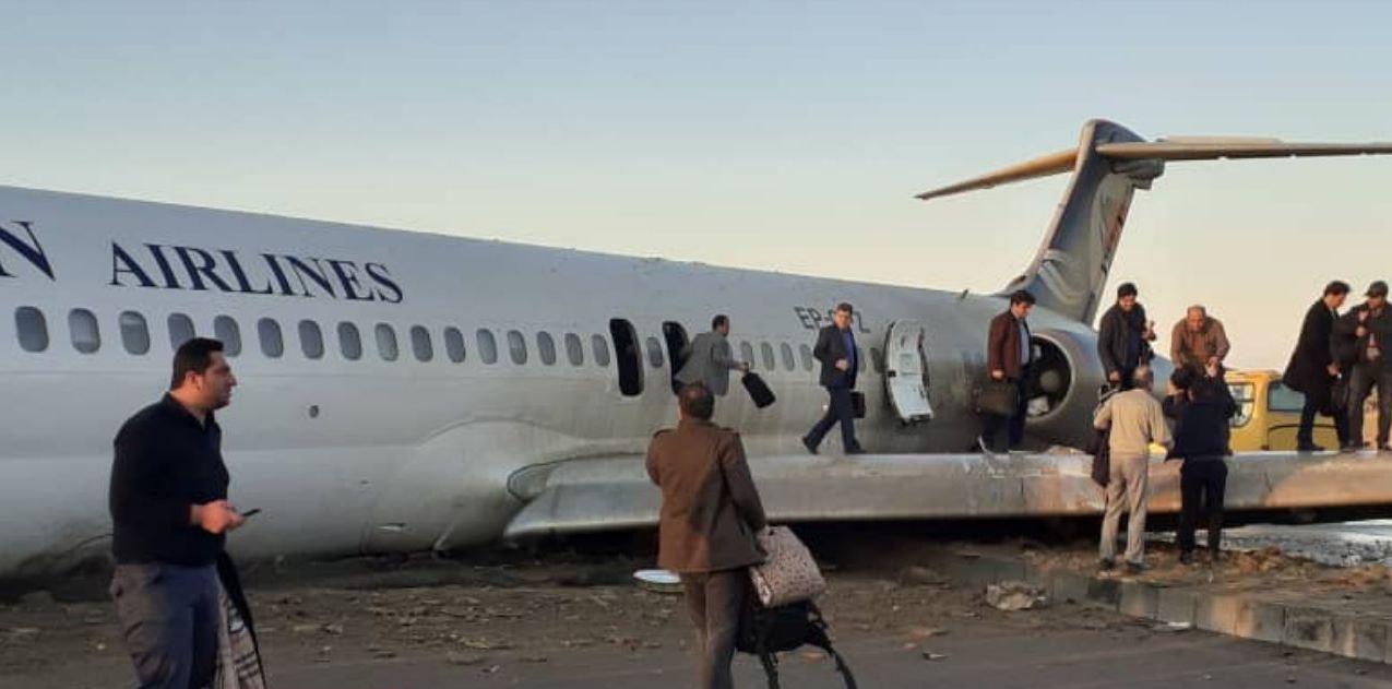 وقوع سانحه هوایی در هواپیمای تهران ماهشهر
