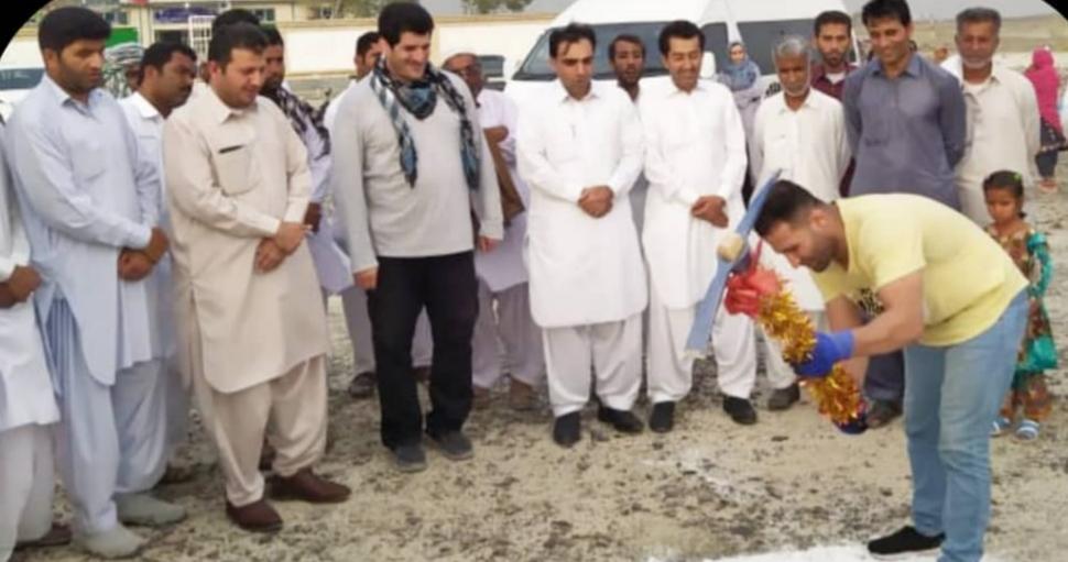 کلنگ احداث مدرسه ۳ کلاسه توسط قهرمانان ورزشی در روستای ملا آباد کشاری