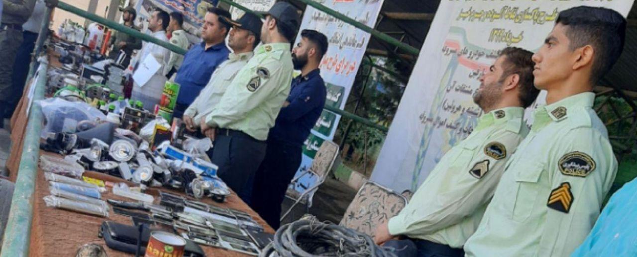 نمایشگاه تشریح عملکرد پلیس در قرچک افتتاح شد