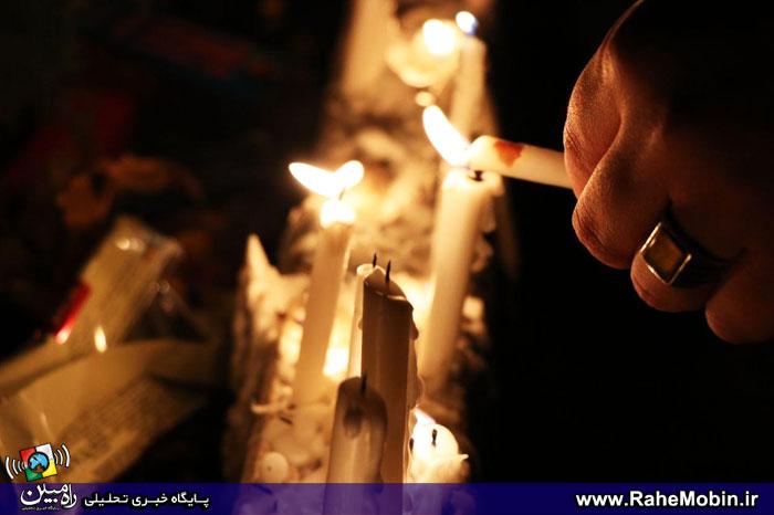 مراسم عزاداری شام غریبان توسط عاشقان اباعبدالله الحسین (ع) در شهریار + تصاویر
