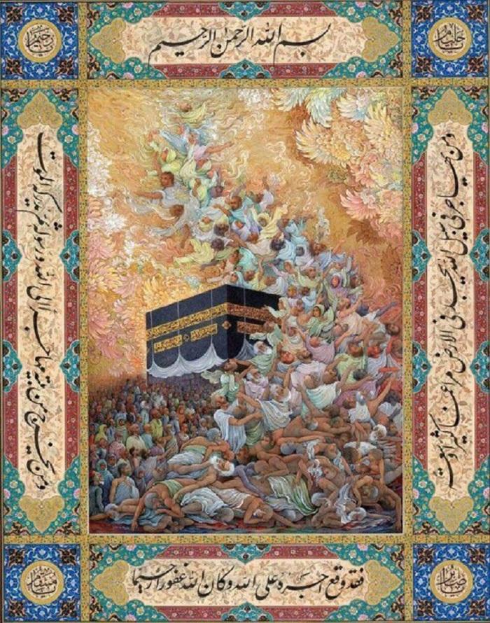 نقش شهدای منا روی دیوارهای تهران