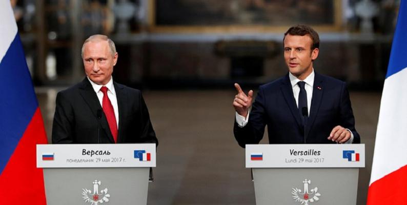 تماس آنلاین رئیسجمهور فرانسه با همتای روسی خود