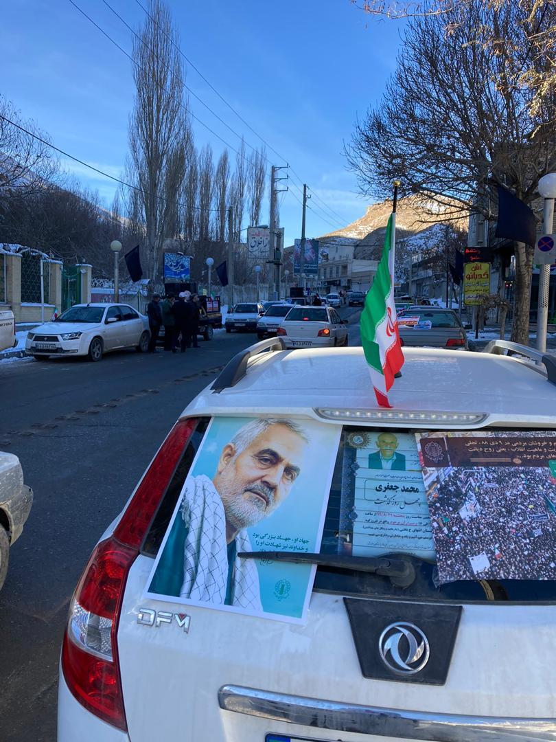 برگزاری رژه خودروهای شخصی در فیروزکوه + فیلم و عکس