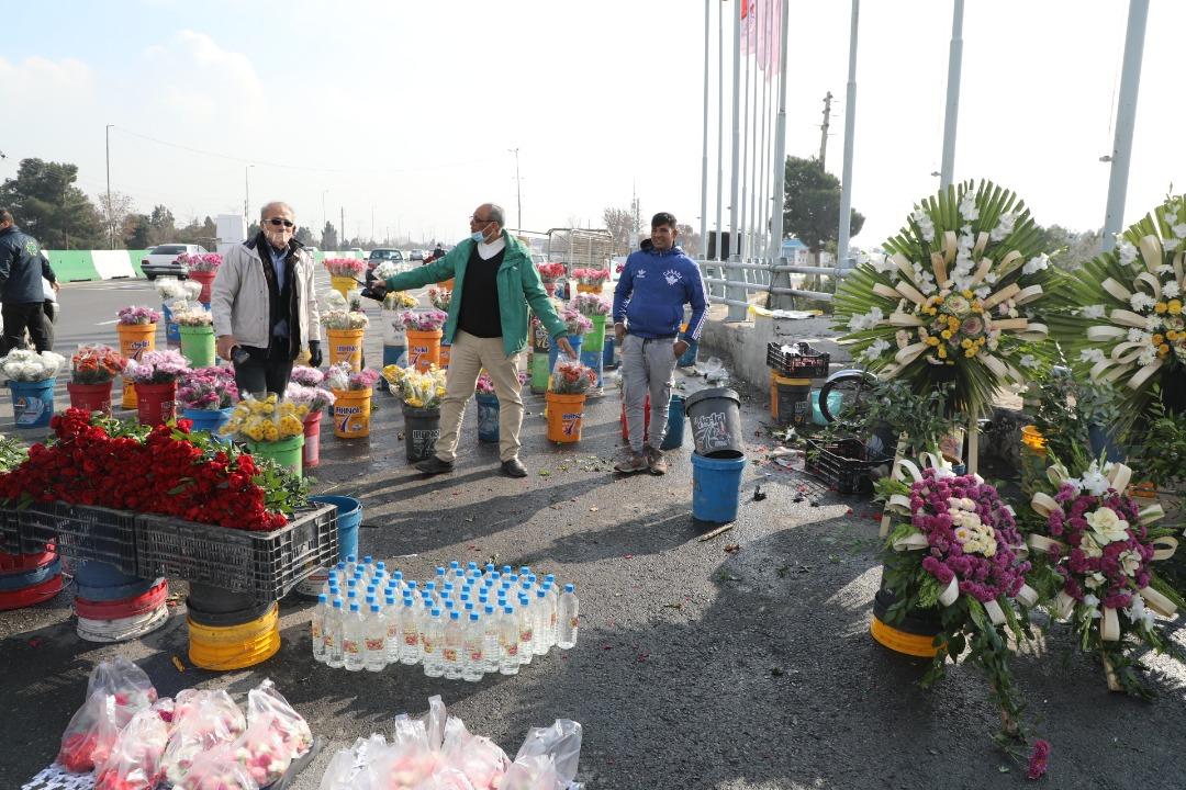 طرح ساماندهی گل فروشان حاشیه بزرگراه شهید هاشمی