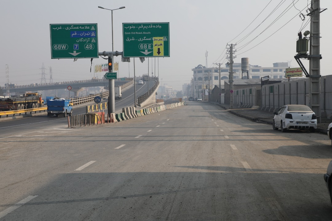 بازگشایی تقاطع پل باقر شهر