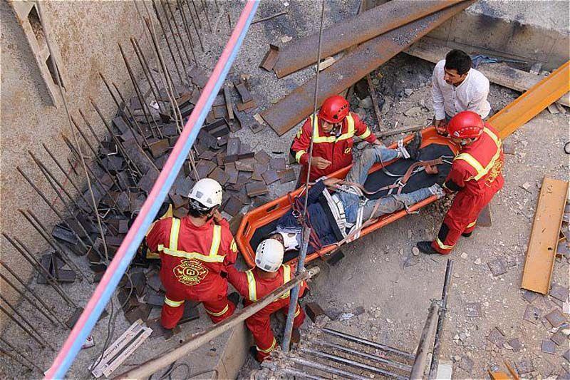 سقوط جوان از طبقه پنجم یک ساختمان در نسیمشهر