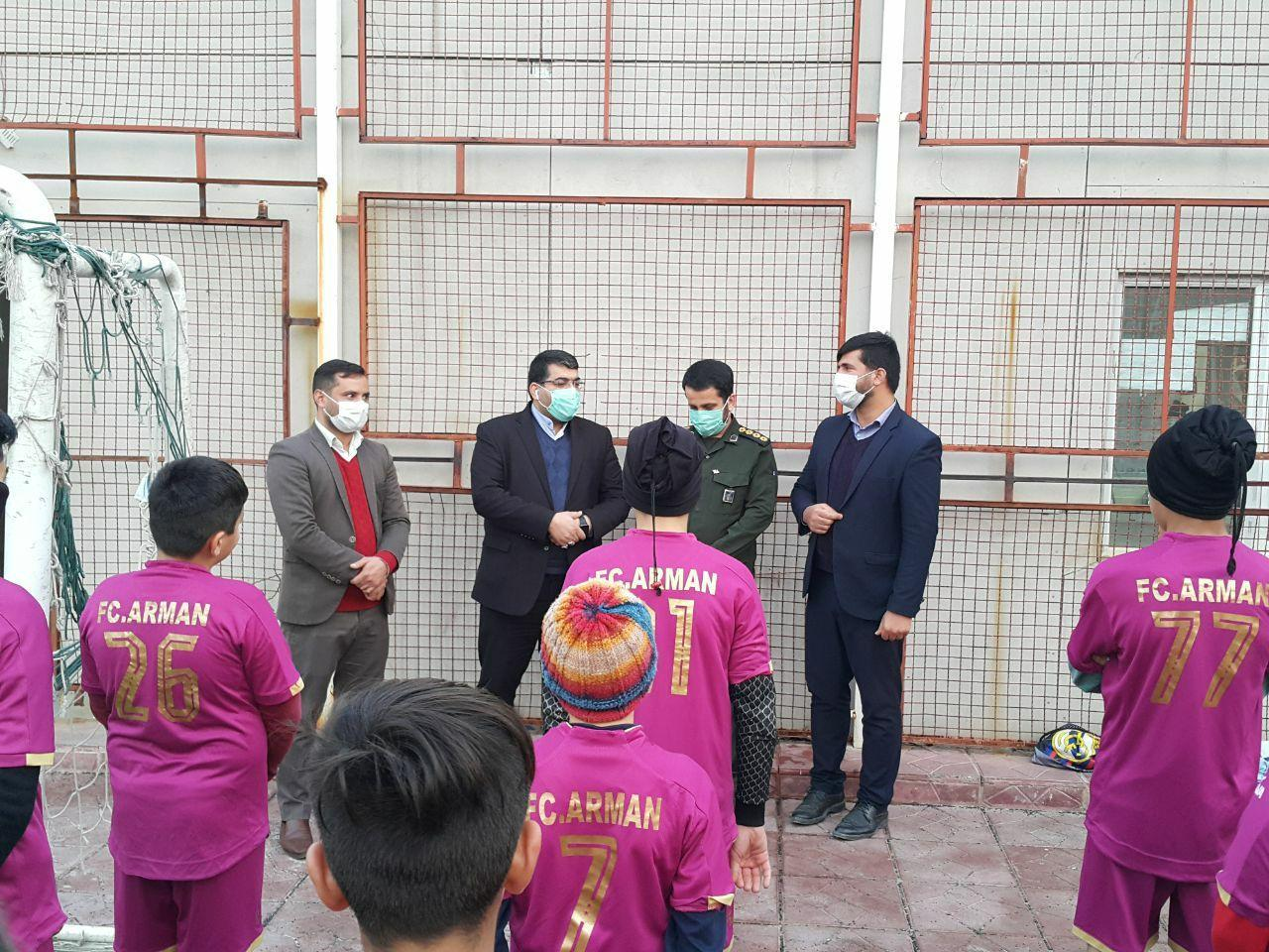 احداث سومین زمین ورزشی شهر صالحیه