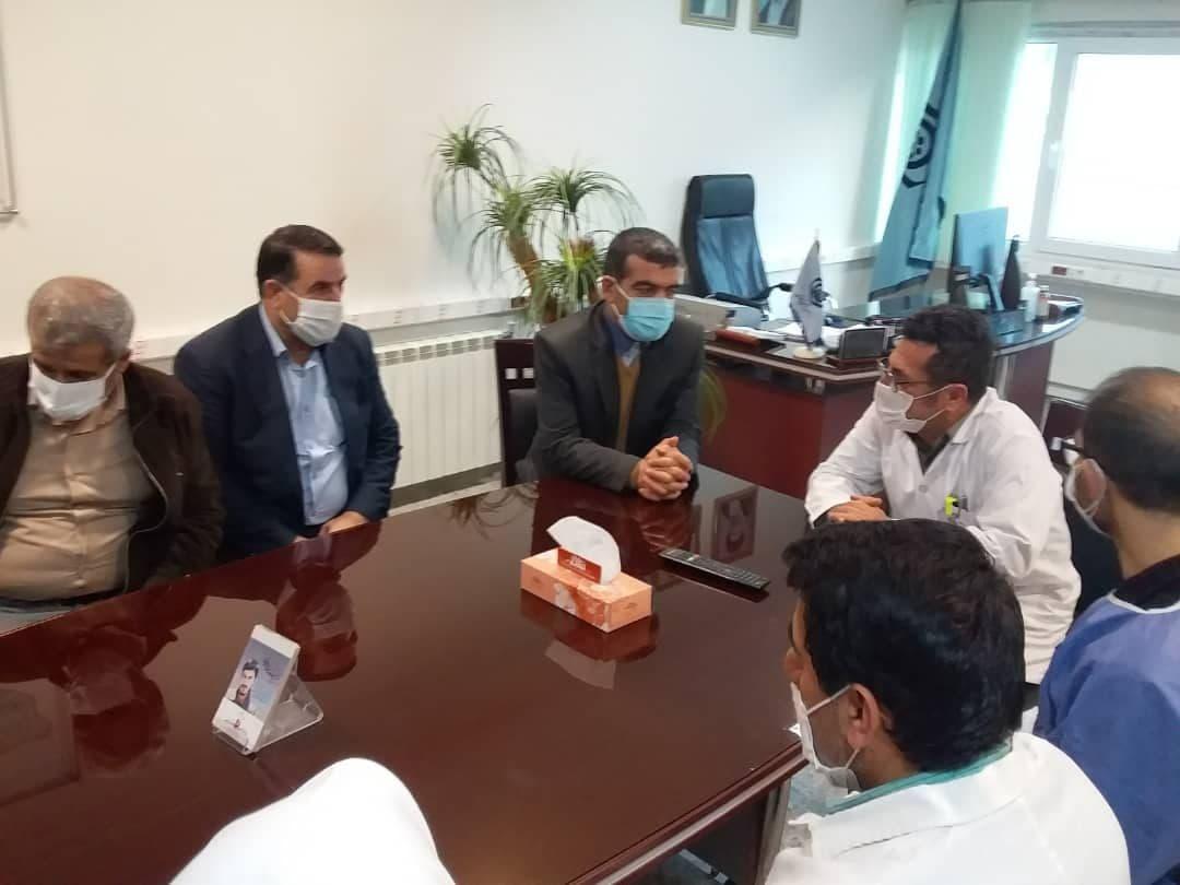 بازدید فرماندار فیروزکوه از درمانگاه تامین اجتماعی