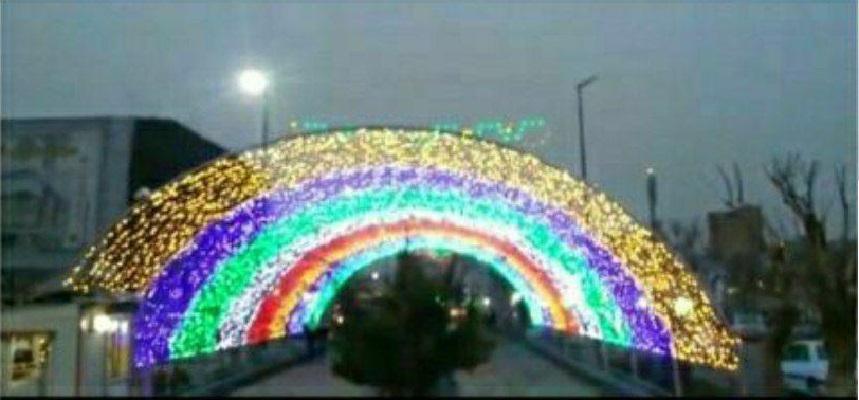 افتتاح تونل نوری در غرب تهران