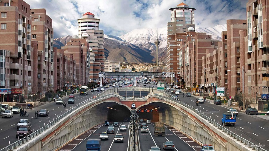 ترافیک روان و عادی در معابر شهر